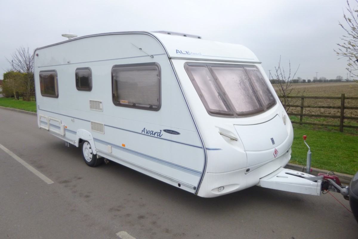 Sold 2003 Ace Award Northstar 4 Berth Fixed Bed Caravan